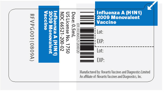 Influenza A (H1n1) 2009 Monovalent Vaccine Injection, Suspension [Novartis Vaccines And Diagnostics Ltd]