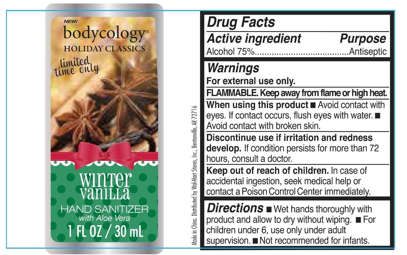 Winter Vanilla Hand Sanitizer Bodycology (Alcohol) Liquid [Wal-mart Stores Inc]