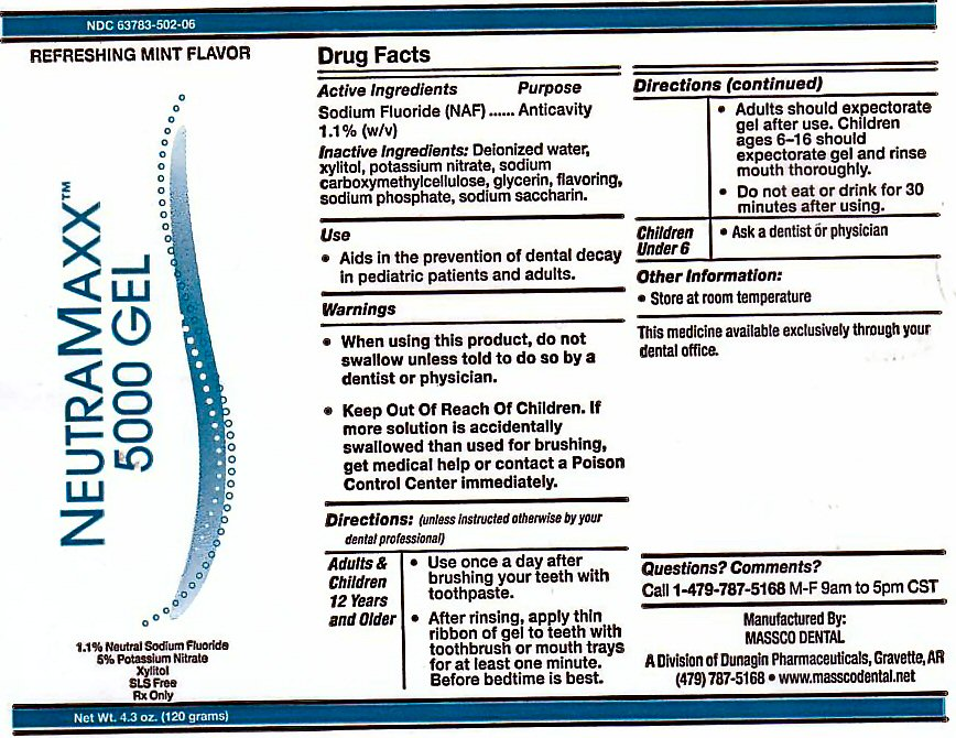 Neutra Maxx 5000 (Sodium Fluoride) Gel [Massco Dental A Division Of Dunagin Pharmaceuticals]