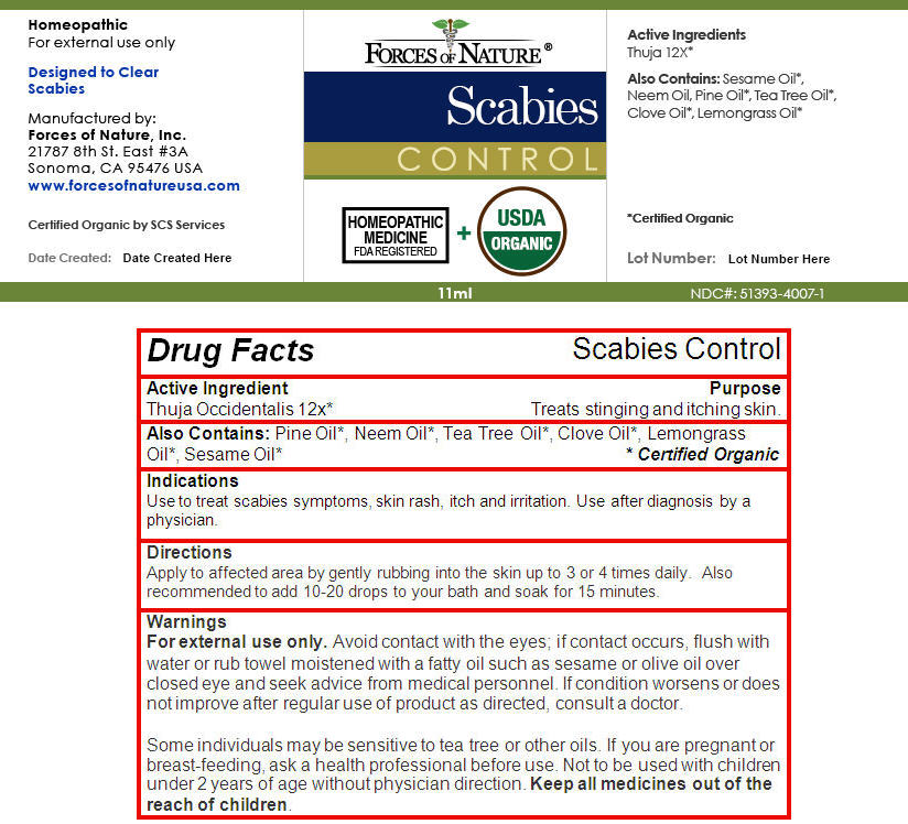 Scabies Control (Thuja Occidentalis Leaf) Solution/ Drops [Forces Of Nature]