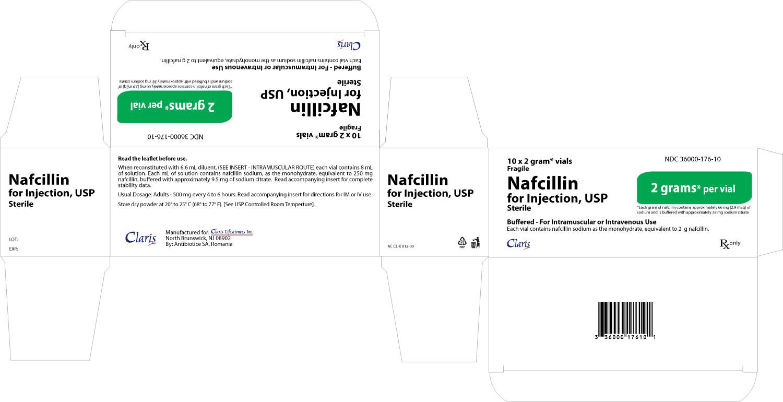 Nafcillin 2 g  Carton of 10 vials