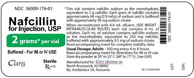 Nafcillin 2 g Label
