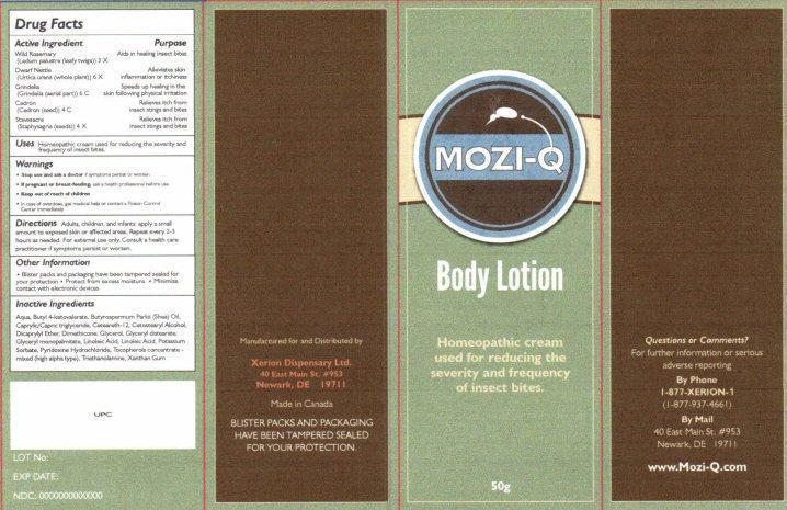 Mozi-q (Ledum Palustre Twig, Urtica Urens, Simaba Cedron Seed, Delphinium Staphisagria Seed, Grindelia Hirsutula Flowering Top) Lotion [Xerion Dispensary Ltd.]