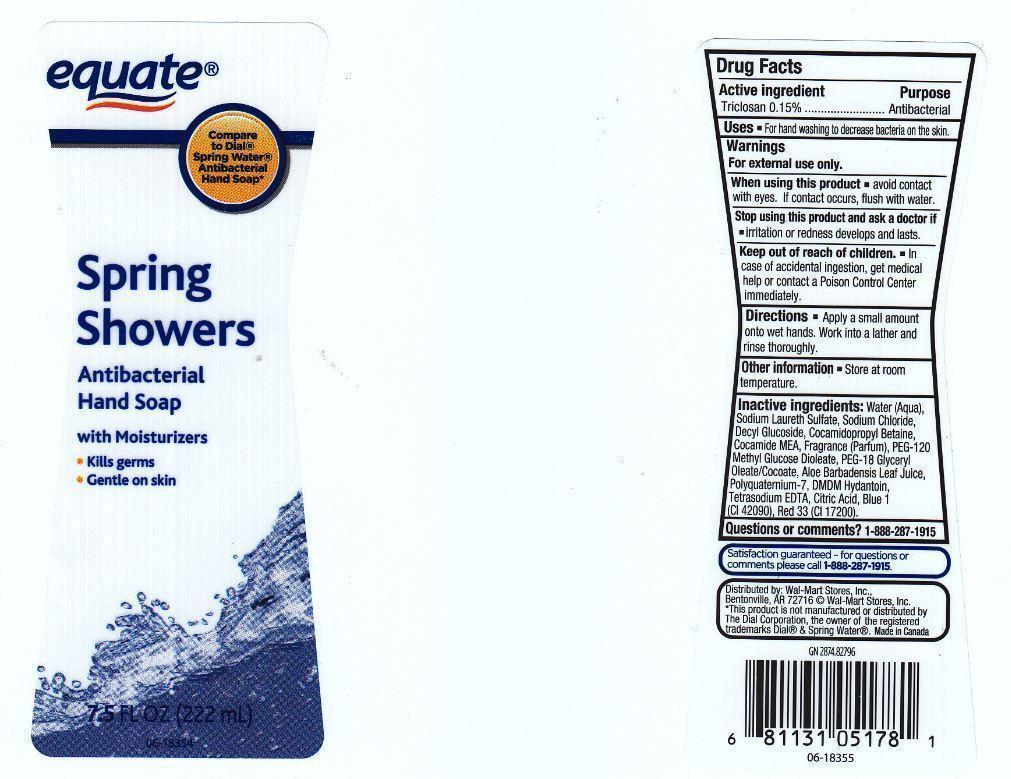 Equate Spring Showers Antibacterial (Triclosan) Liquid [Wal-mart Stores Inc.]