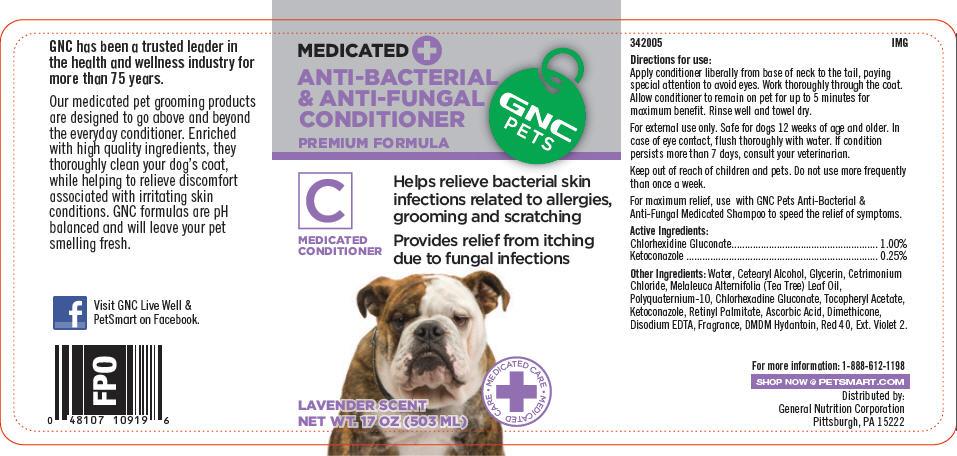 Gnc Pets Anti-bacterial And Anti-fungal Conditioner (Premium Formula) (Chlorhexidine Gluconate And Ketoconazole) Shampoo [General Nutrition Corporation]