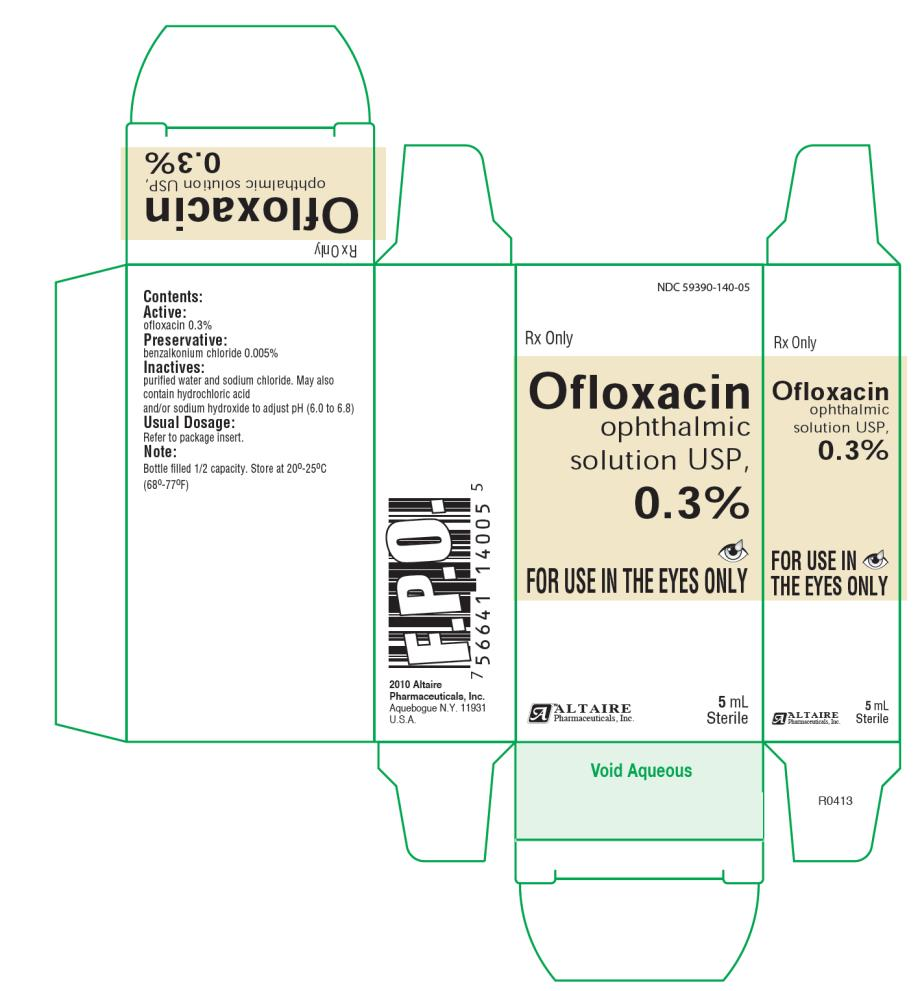 NDC 59390-140-05- Carton Rx Only Ofloaxcin ophthalmic solution 0.3% FOR USE IN THE EYES ONLY 5 mL Sterile