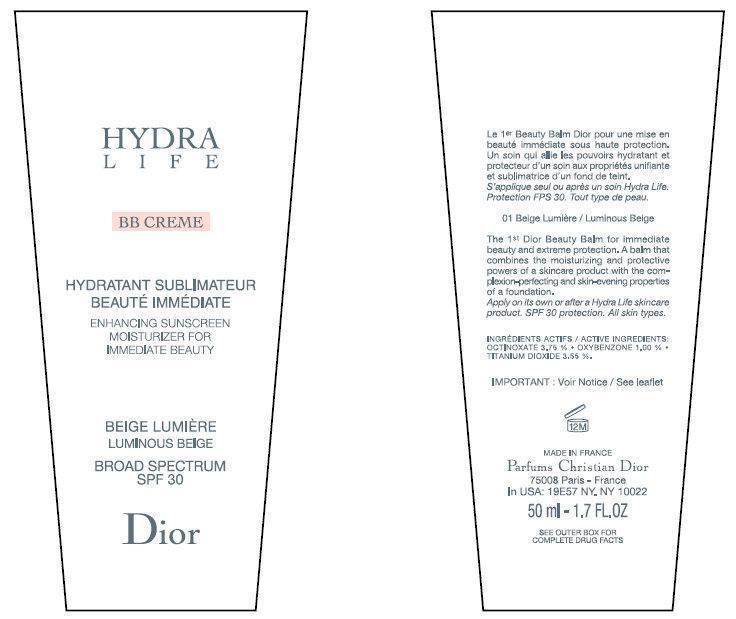Cd Hydralife Bb Creme Enhancing Sunscreen Moisturizer For Immediate Beauty Luminous Beige Broad Spectrum Spf 30 (Octinoxate, Oxybenzone, Titanium Dioxide) Cream [Parfums Christian Dior]