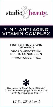 Walgreens 7-in-1 Anti-aging Vitamin Complex Broad Spectrum Spf 15 Sunscreen (Avobenzone, Octisalate, Octocrylene) Cream [Walgreen Company]