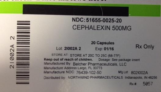 Cephalexin Capsule [Northwind Pharmaceuticals]