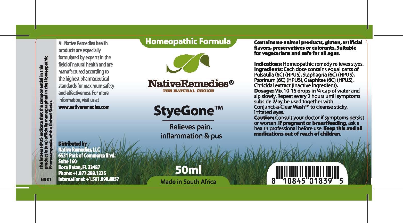 Styegone (Pulsatilla , Staphagria , Psorinum , Graphites) Tincture [Feelgood Health]