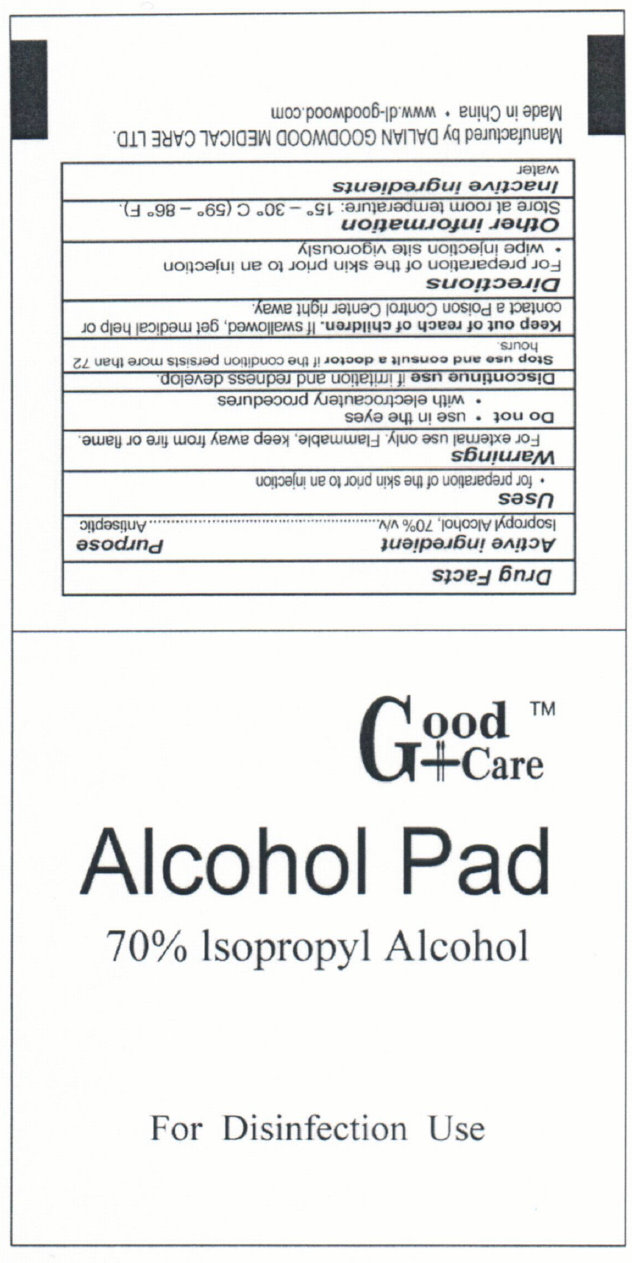 Good Care Alcohol Pad (Isopropyl Alcohol) Swab [Dalian Goodwood Medical Care Ltd. ]