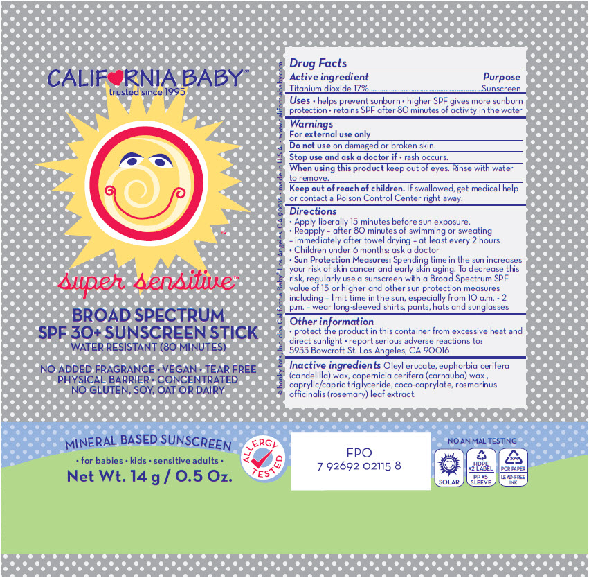 Spf30 Super Sensitive Sunscreen (Titanium Dioxide) Stick [Organic & Sustainable Beauty]