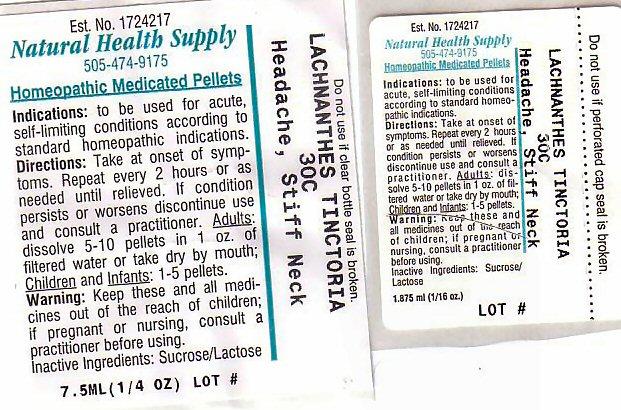 Headache Stiff Neck (Lachnanthes Caroliniana) Pellet [Natural Health Supply]