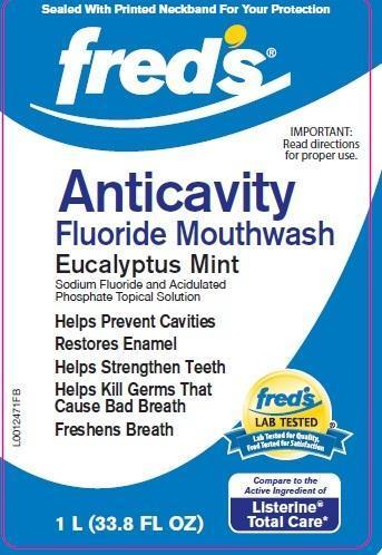 Anticavity Fluoride Rinse (Sodium Fluoride) Mouthwash [Fred's Inc]