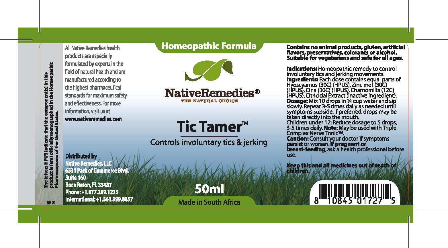 Tic Tamer (Tictam) Tincture [Feelgood Health]